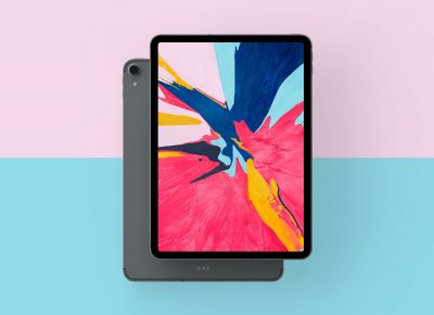 New Apple iPad Pro 2018 Free PSD Mockup