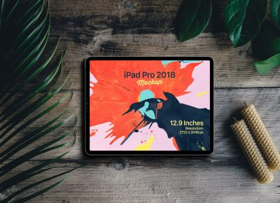 New Full Screen iPad Pro 2018 Free PSD Mockup