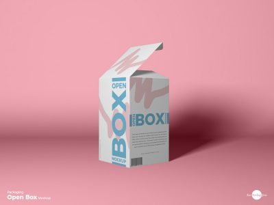 Packaging Open Box Free PSD Mockup