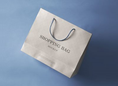 Paper Shopping Bag Free PSD Mockup