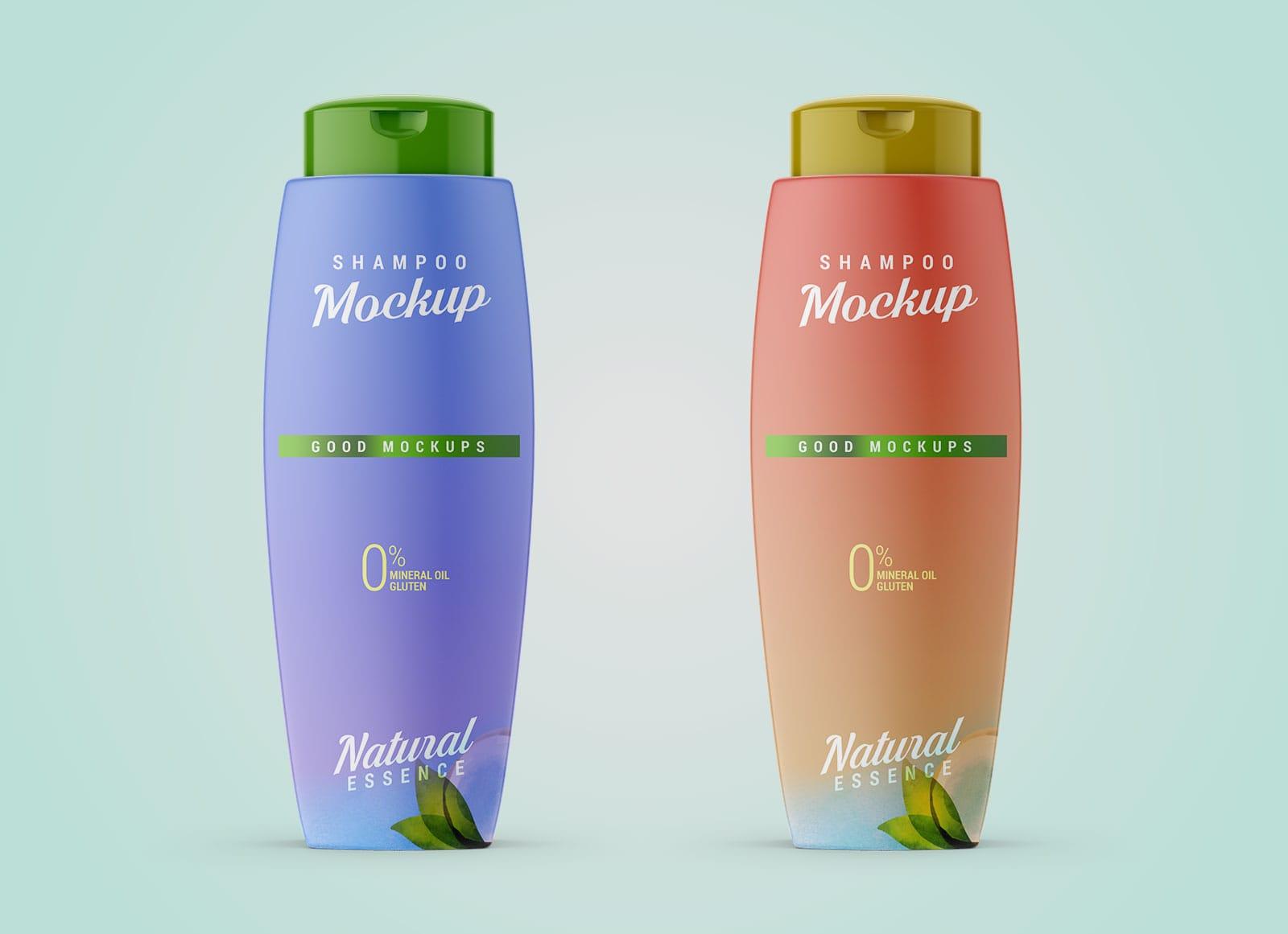 Plastic Shampoo Bottle Free PSD Mockup