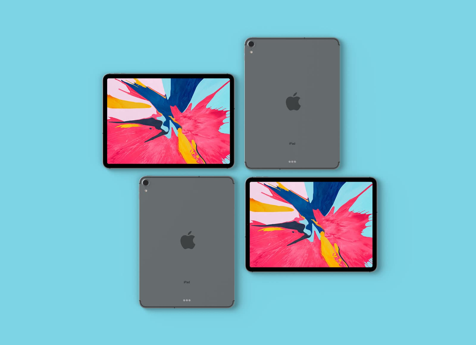 Apple iPad Pro 2018 Free PSD Mockup