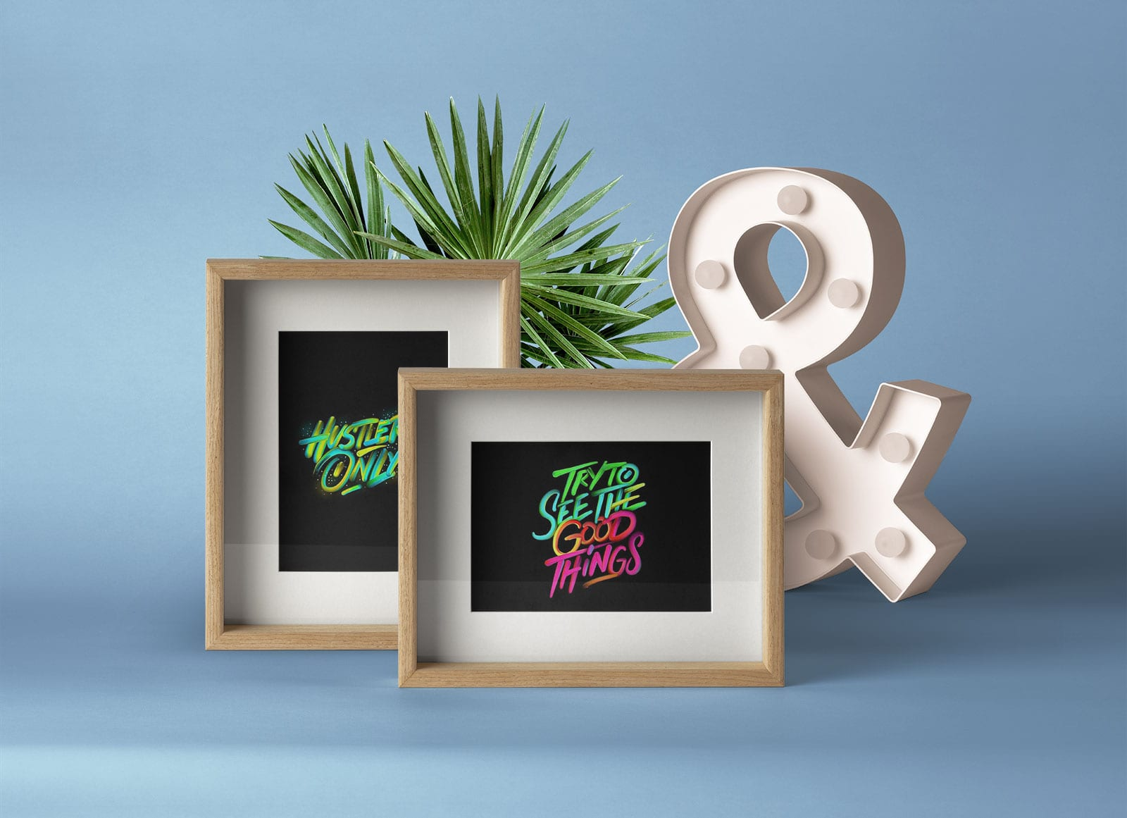 Wood Frame Presentation Free PSD Mockup