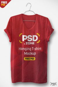 Hanging T-shirt Free PSD Mockup