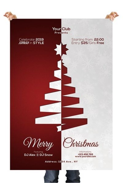 Merry Xmas 2019 Free PSD Flyer Template