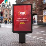 Outdoor Poster Signboard Free PSD Mockup