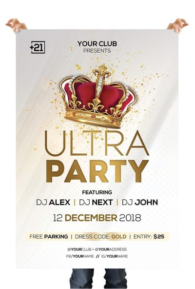 Glamour Party #2 Free PSD Flyer Template