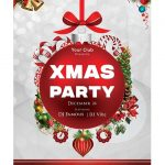 2018 Christmas Party - Free PSD Flyer Template
