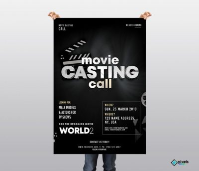 Casting Call Free PSD Flyer Template