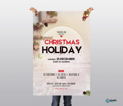 Merry Christmas #2 Free PSD Flyer Template