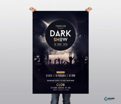 Dark Show Free PSD Flyer Template