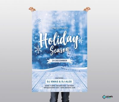 Holiday Season Free PSD Flyer Template
