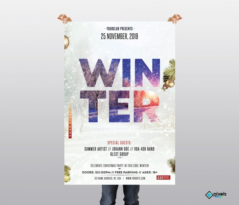 Winter Season Free PSD Flyer Template
