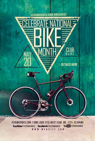 Bike Month Free PSD Flyer Template