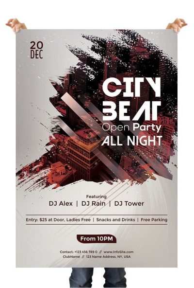 City Beat Free PSD Flyer Template