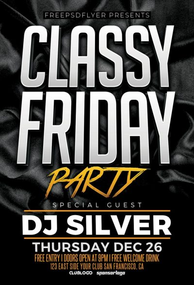 Classy Friday Free PSD Flyer Template