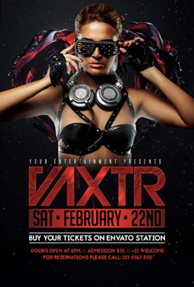 Club Party DJ Free PSD Flyer Template