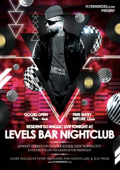 Levels Nightclub Free PSD Flyer Template