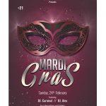 Mardi Gras 2019 Flyer Free PSD Template