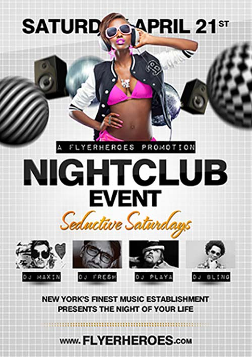 Nightclub Event Free PSD Flyer Template