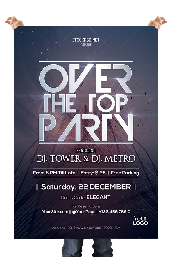 Classy Party Free PSD Flyer Template