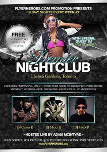 Premier Nightclub Free PSD Flyer Template