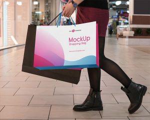 Shopping Bag Free PSD Mockup