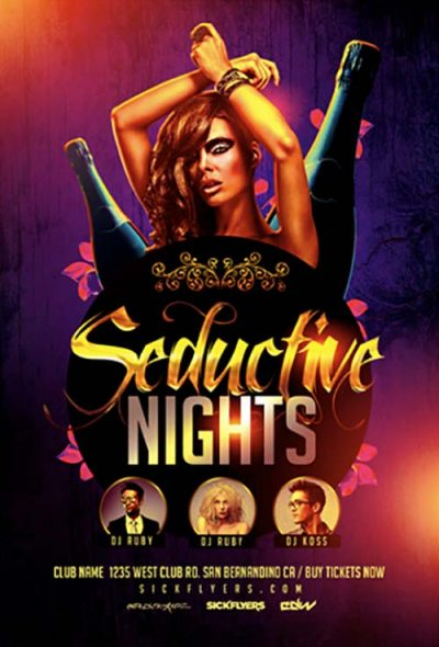 Seductive Nights Free PSD Flyer Template