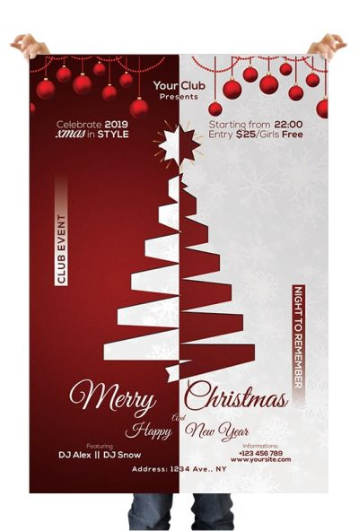 Xmas and NYE 2019 PSD Flyer Template