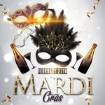 Mardi Gras Carnival Free PSD Flyer Template