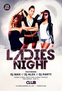 Ladies Night #4 Free PSD Flyer Template