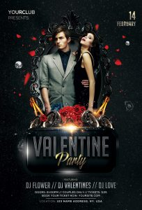 Valentine's Party 2019 Free PSD Flyer Template