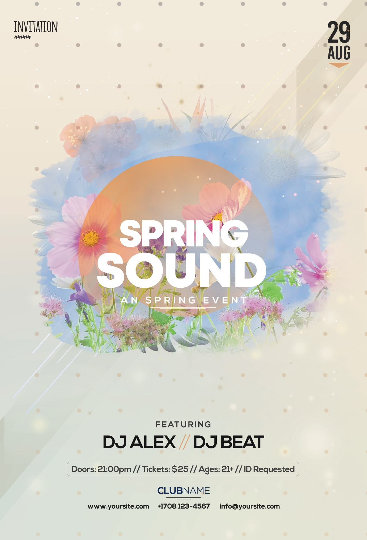 Spring Sound Free PSD Flyer Template