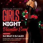 Girls Night Valentine's Free PSD Flyer Template