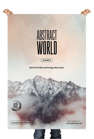 Abstract World Premium PSD Flyer Template