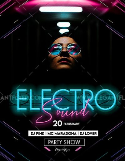 Electro Sound #2 Free PSD Flyer Template