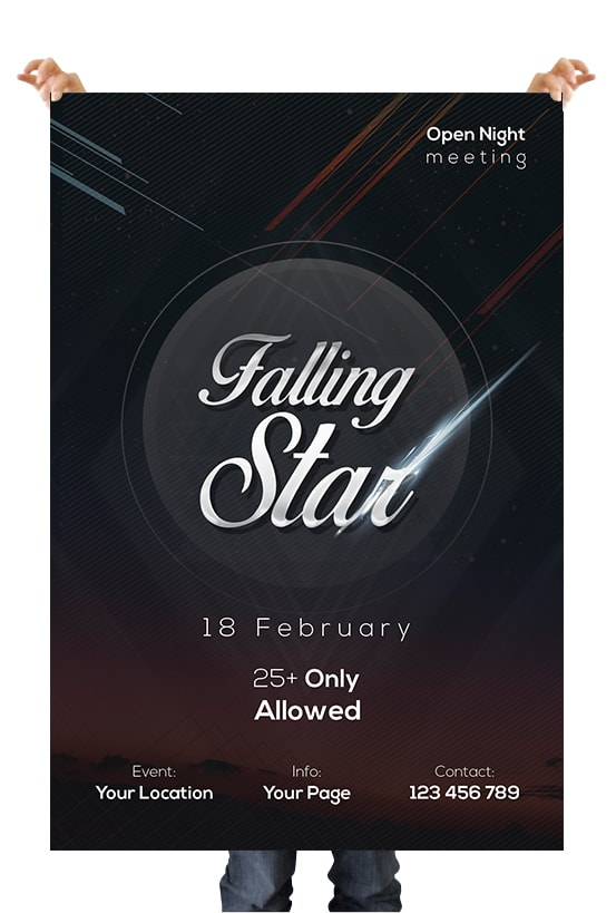 Falling Stars Free PSD Flyer Template