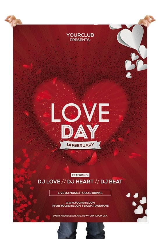Love Day Premium PSD Flyer Template