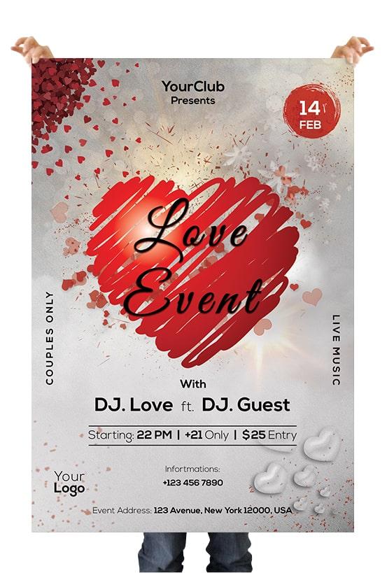 Love Event PSD Flyer Template