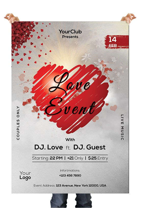 Love Event Free PSD Flyer Template