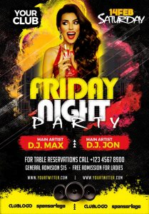 Friday Night Party #2 Free PSD Flyer Template