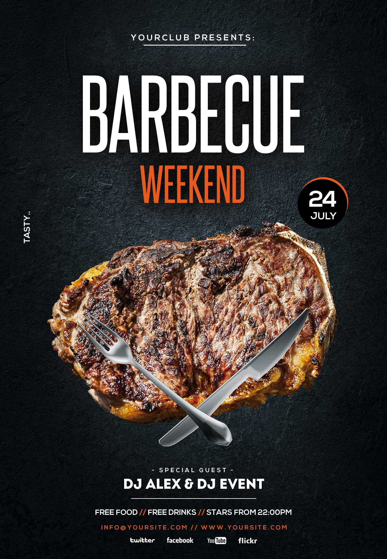 Barbecue Weekend Free PSD Flyer Template
