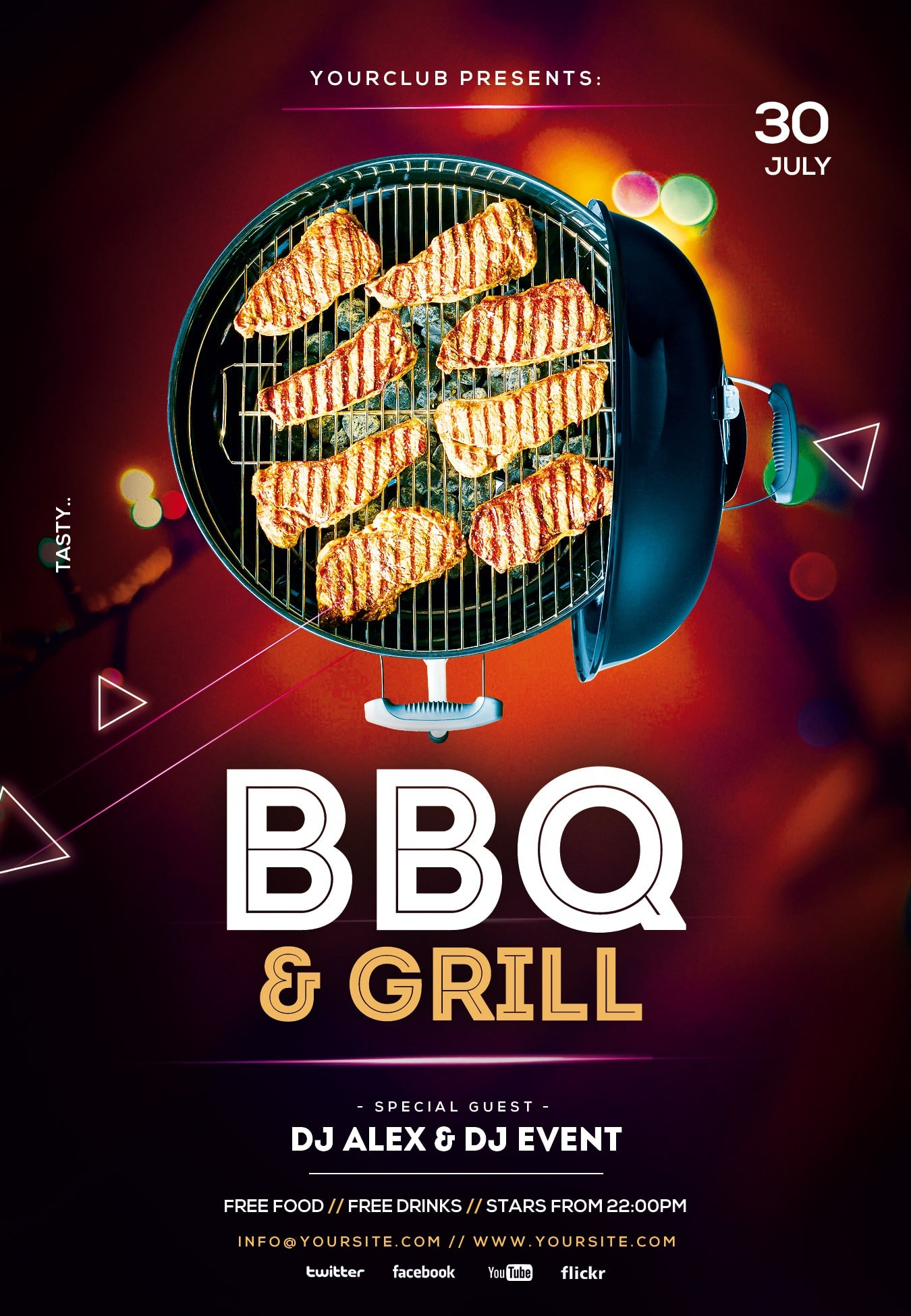 BBQ and Grill Free PSD Flyer Template