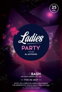 Ladies Party #2 Free PSD Flyer Template
