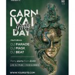 Carnival Day Party Free PSD Flyer Template