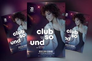 Club Vibe Free PSD Flyer Template