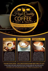 Coffee Special Promotion Free PSD Flyer Template