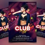 Color Club Night Free PSD Flyer Template