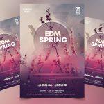 EDM Spring Free PSD Flyer Template