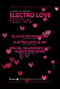 Electro Love Festival Free PSD Flyer Template
